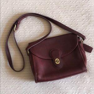 Vintage leather coach crossbody bag